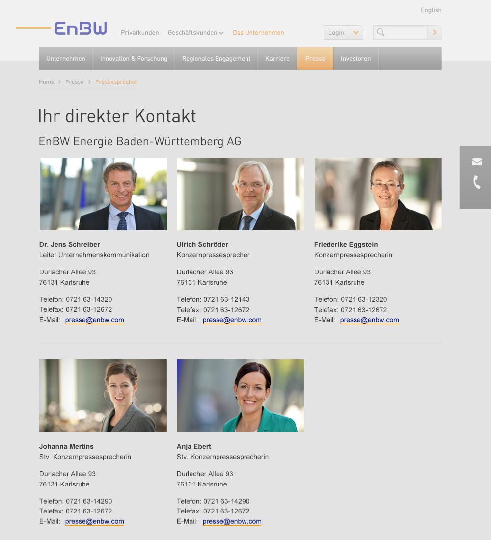 EnBW Corporate Design Net – Module